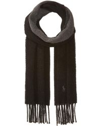 Polo Ralph Lauren - Classic Reversible Scarf (classic Wine/college Green) Scarves - Lyst
