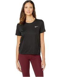 e53541e5cc611 Nike - Miler Top Short Sleeve (plum Dust reflective Silver) Women s Clothing  -