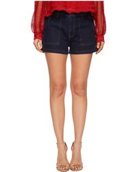 The Kooples | Raw Denim Shorts With Studs On The Pockets | Lyst