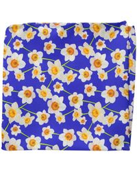 Eton of Sweden - Daffodil Pocket Square - Lyst