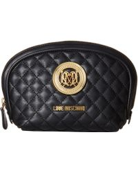 Love Moschino - Quilted Makeup Bag - Lyst