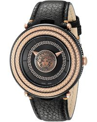 shop men s versace watches from 590 lyst versace v metal icon 46mm vql03 0015 lyst
