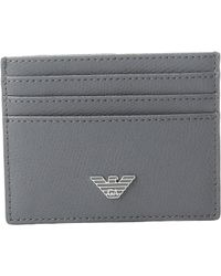 Emporio Armani - Grained Card Holder - Lyst