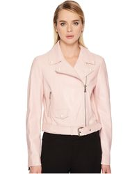 Boutique Moschino   Leather Jacket   Lyst