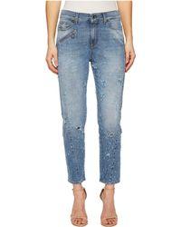 Versace Jeans - Distressed Denim In Indigo - Lyst