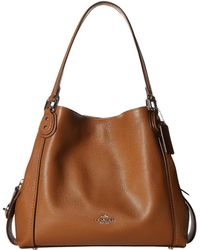 62302527224c COACH - Pebbled Leather Edie 31 Shoulder Bag - Lyst