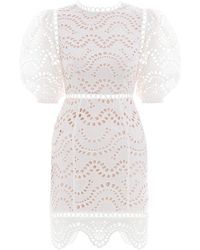 Zimmermann - Jaya Wave Short Dress - Lyst