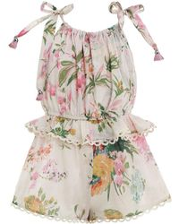 fa2ab37a1d Lyst - Zimmermann Folly Whimsy Playsuit in Pink