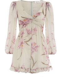 e7be9705e807 Zimmermann - Corsage Knot Playsuit - Lyst