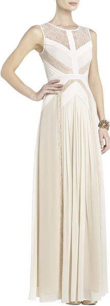 BCBGMAXAZRIA Avi Pleated Gown - Lyst
