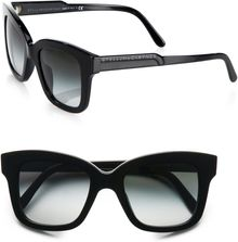 Stella McCartney Oversized Square Acetate Framesblack - Lyst