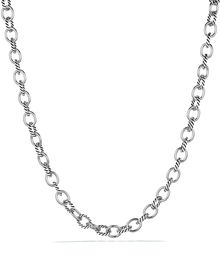 David Yurman Oval Medium Link Necklace 16 - Lyst