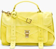 Proenza Schouler Chartreuse Suede Ps1 Medium Messenger Bag - Lyst