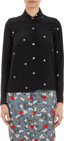 Opening Ceremony Daisyprint Silk Shirt - Lyst