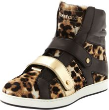 Jimmy Choo Yazz Leopardprint Hightop Sneaker - Lyst