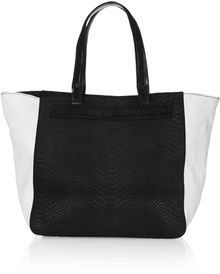 Topshop Bailey Leather Tote Bag - Lyst