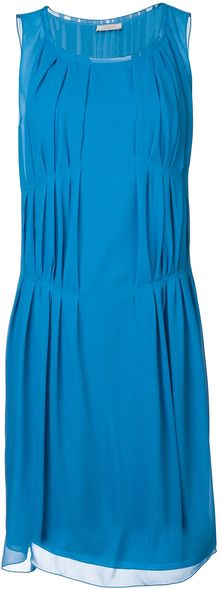 Nina Ricci Pleated Shift Dress - Lyst