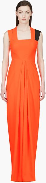 Roksanda Ilincic Fluorescent Orange Woven_strap Anaress Dress - Lyst
