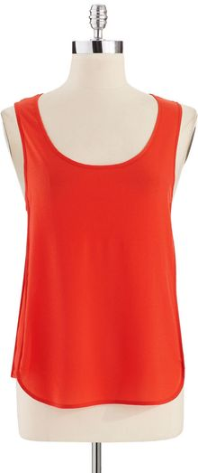 French Connection Sheer Hilo Tank Top - Lyst