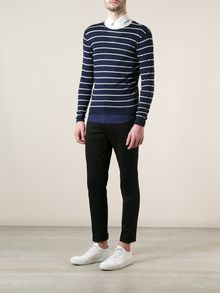 Neil Barrett Striped Sweater - Lyst