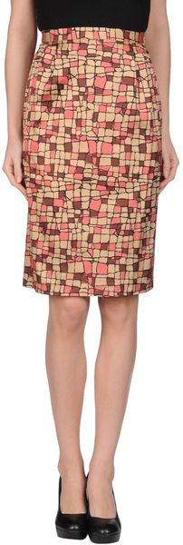 Laura Urbinati Knee Length Skirt - Lyst