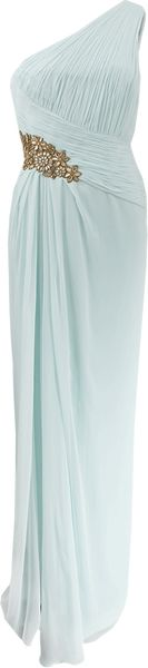 Notte By Marchesa One Shoulder Pleated Gown - Lyst
