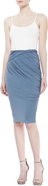 Donna Karan New York Asymmetric Draped Skirt Tempest - Lyst