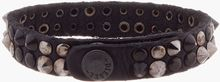 Diesel Black and Gunmetal Studded Asbrigo Bracelet - Lyst
