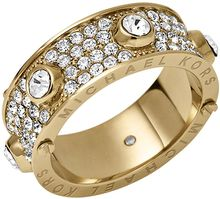 Michael Kors Goldtone Crystallized Astor Ring - Lyst