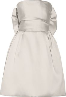 Lanvin Bowembellished Duchessesatin Dress - Lyst