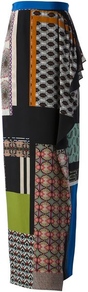 Etro Multi Pattern Skirt - Lyst