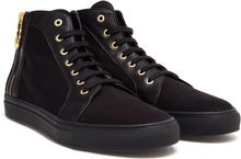 Versus  Leather and Canvas Hitops - Lyst