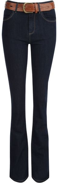 Jane Norman Bootleg Fit Jeans with Belt - Lyst