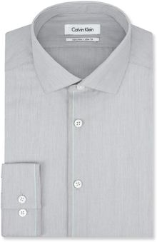 Calvin Klein Steel Grey Ministripe Dress Shirt - Lyst
