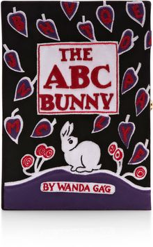 Olympia Le-Tan Limited Edition The Abc Bunny Leather Book Clutch - Lyst