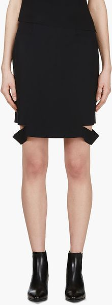 Versus  Black Cut Up Jw Anderson Edition Pencil Skirt - Lyst