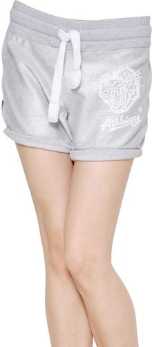 Superdry Printed Metallic Cotton Fleece Shorts - Lyst