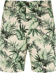 Moncler Palm Tree Cotton Shorts - Lyst
