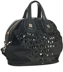 Givenchy Black Poly Jeweled Nightingale Medium Bag - Lyst
