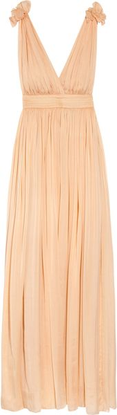 D&G Backless Silk-chiffon Gown - Lyst