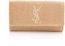 Saint Laurent Raffia Belle Du Jour Clutch - Lyst