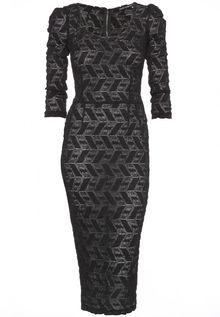 Dolce & Gabbana Stretch Lace Dress - Lyst