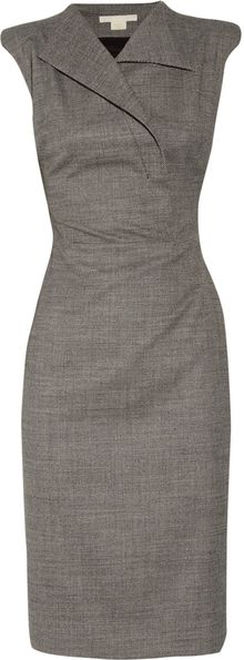 Antonio Berardi Sharp-shouldered Stretch-wool Dress - Lyst