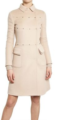 Valentino Studded Wool Cashmere Cloth Coat - Lyst