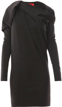 Lanvin Wool Jersey Dress - Lyst