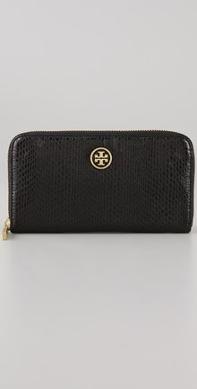 Tory Burch Zip Around Continental Wallet - Lyst