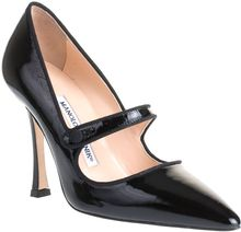Manolo Blahnik Campari Patent Mary-jane Pump - Lyst