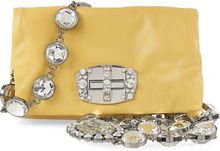 Miu Miu Strass Crystal-embellished Mini Leather Bag - Lyst