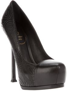 Saint Laurent Platform Stiletto - Lyst