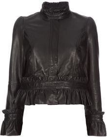 RED Valentino Leather Jacket - Lyst